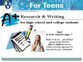 Need  to write research paper ? Want to do an  job without going totally NUTS?