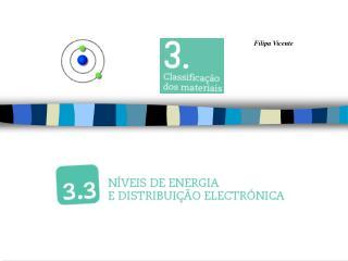 1º nível – 2 electrões 2º nível – 8 electrões 3º nível – 18 electrões . . .