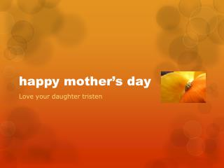 happy mother�s day