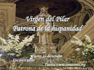 Virgen del Pilar Patrona de la hispanidad