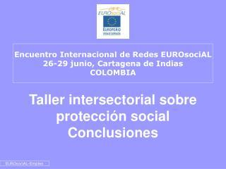 Taller intersectorial sobre protección social  Conclusiones