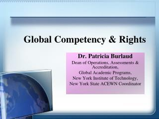 Global Competency & Rights