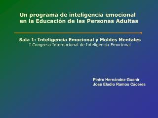 Un programa de inteligencia emocional  en la Educación de las Personas Adultas