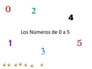 Los Números de 0 a 5
