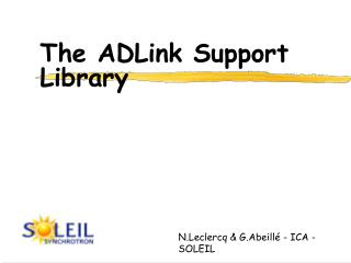 The ADLink Support  Library