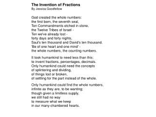 The problem with fractions. Short history of fractions Controversy Conceptual understanding