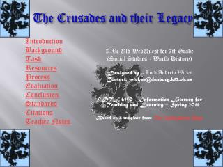 The Crusades and their Legacy