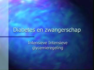 Diabetes en zwangerschap