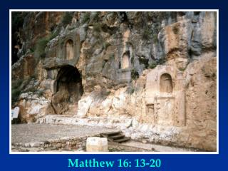 Matthew 16: 13-20