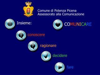 Comune di Potenza Picena Assessorato alla Comunicazione