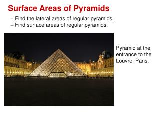 Surface Areas of Pyramids