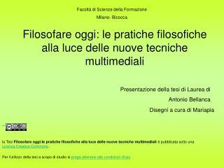 Facoltà di Scienze della Formazione Milano- Bicocca