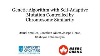Genetic Algorithm with Self-Adaptive Mutation Controlled by Chromosome  Similarity