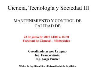 Ciencia, Tecnolog a y Sociedad III