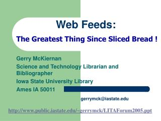Web Feeds: