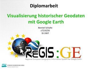 Visualisierung historischer Geodaten mit Google Earth