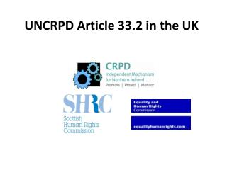 UNCRPD Article 33.2 in the UK