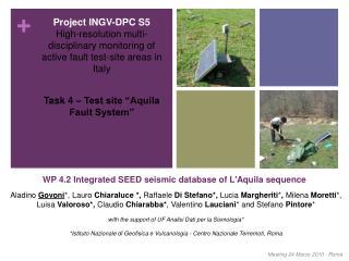 "Task 4 – Test site ""Aquila Fault System"""
