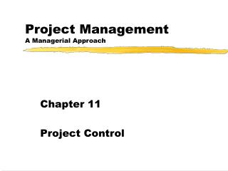 Project Management A Managerial Approach