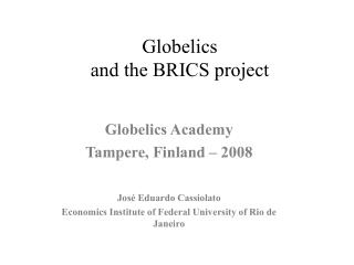 Globelics  and the BRICS project