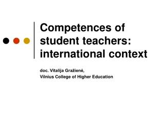 Competences of student teachers: international context