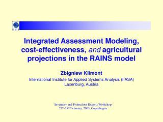 Zbigniew Klimont International Institute for Applied Systems Analysis (IIASA)  Laxenburg, Austria