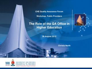 CHE  Quality Assurance Forum  Workshop, Public Providers