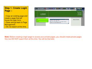 Step 1: Create Login Page –