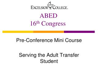 ABED 16 th  Congress
