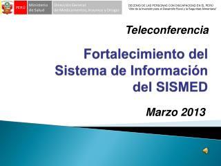 Fortalecimiento del Sistema de Información del SISMED