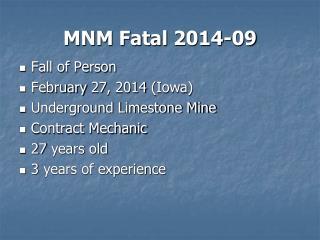 MNM Fatal 2014-09