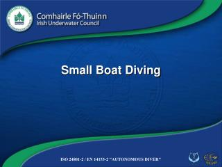 Small Boat Diving