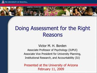 Doing Assessment for the Right Reasons