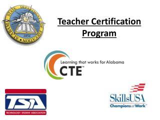 Teacher Certification Program