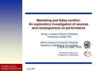 George J. Avlonitis, Professor of Marketing Konstantinos Lionakis ,  PhD