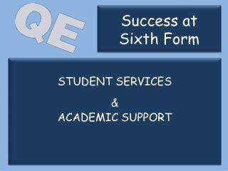 Success at Sixth Form