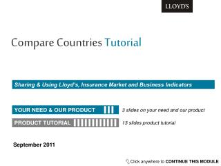 Sharing & Using Lloyd's, Insurance Market and Business Indicators