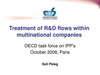 Treatment of R&D flows within multinational companies