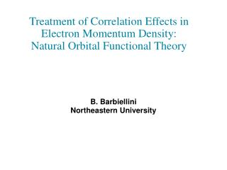 Treatment of Correlation Effects in Electron Momentum Density: Natural Orbital Functional Theory