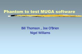 Phantom to test MUGA software
