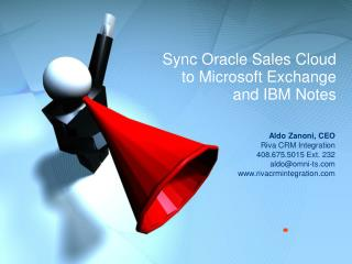 Sync Oracle Sales Cloud  to Microsoft Exchange and IBM Notes