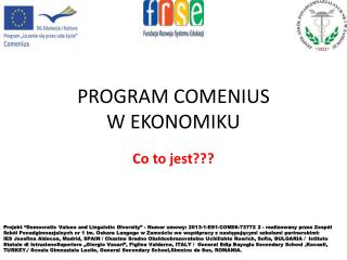 PROGRAM COMENIUS W EKONOMIKU