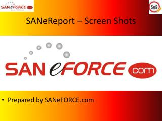 SANeReport – Screen Shots