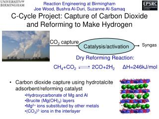 Carbon dioxide capture using hydrotalcite adsorbent/reforming catalyst