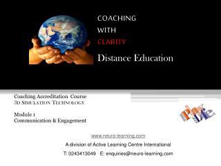 Coaching Accreditation  Course 3d Simulation Technology Module 1  Communication & Engagement