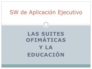 SW de Aplicación Ejecutivo
