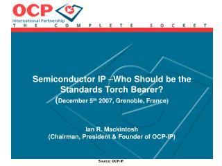 OCP-IP Overview ( ocpip )