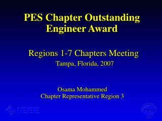 PES Chapter Outstanding Engineer Award