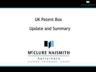 UK Patent Box