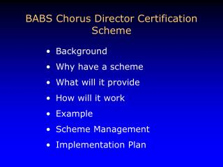 Background Why have a scheme What will it provide How will it work Example Scheme Management